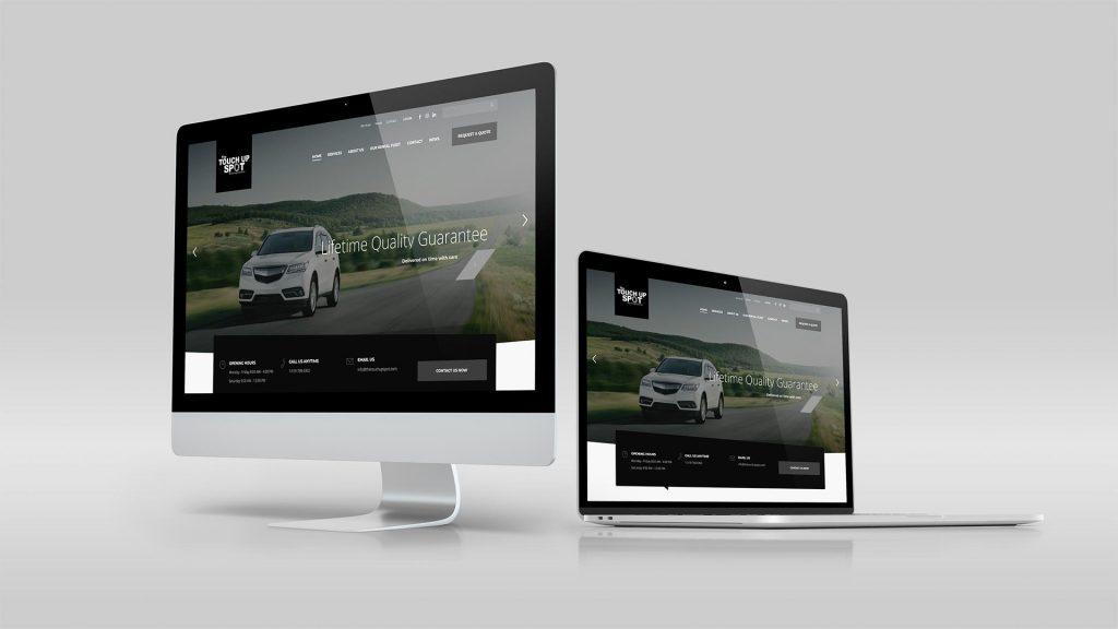 The Touch Up Spot website development mockup